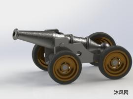 古代大炮模型圖
