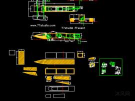 cad图纸图纸海洋下载自制手动折边机船舶图片
