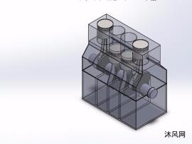 曲柄连杆机构模型设计图
