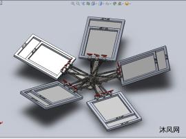 旋转(太阳能)面板设计模型
