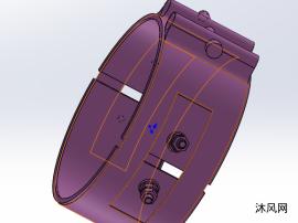 管夹 卡箍模型图