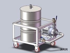 移动型抽水箱设计模型