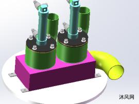 发动机的排气装置模型图