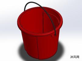 塑料桶三维模型图