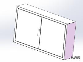 单开门和双开门电器柜模型
