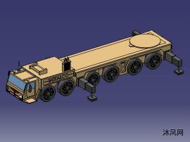 军用发射车数模