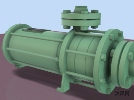 密封氣泵模型