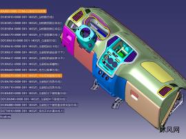 完整SUV仪表板总成数模