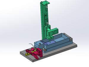 活动测试台架设计模型图