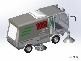 纯电动环保马路清洁扫地车