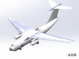 伊尔-76战略运输机模型