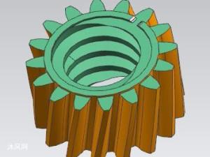 带内螺纹的塑料斜齿轮超长油缸齿轮齿条注塑模具