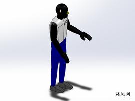 黑机器人solidworks模型