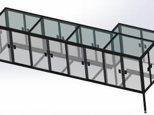 非標設備鋁型材護罩機架罩子免費