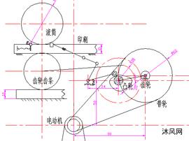 平台印刷机机构图