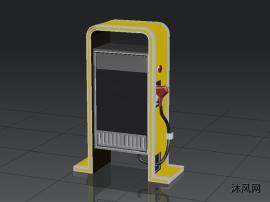 汽车充电桩建模模型