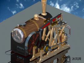斯特林蒸汽机发动机及蒸汽锅炉模型