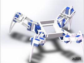四足爬行仿生机器人