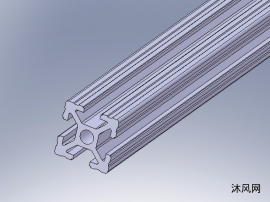 各种铝型材和安装附件模型