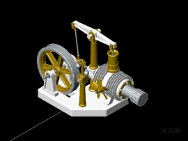 经典斯特林发动机3D模型