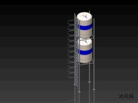 三维水箱图纸模型