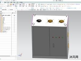 电器机柜模型