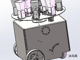 微型移栽机中心部件模型