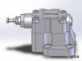 卸荷压力螺纹端口电磁泄压阀模型