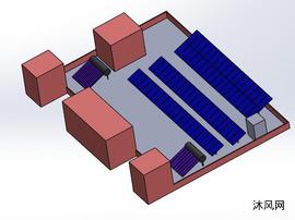 太阳能热水器模型图