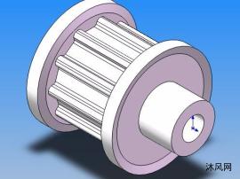 AT5-10-1F型同步带轮模型全集 18种规格