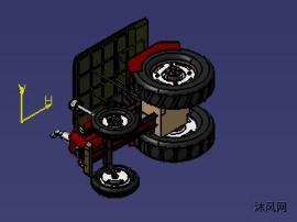 拖拉机图纸模型