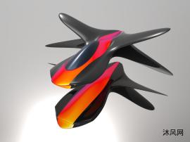 概念太空船模型