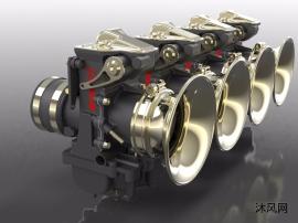 化油器inventor三维模型