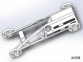 高速賽車車架設計模型