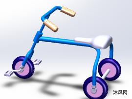 儿童三轮车模型图