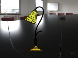 台灯设计sw模型图