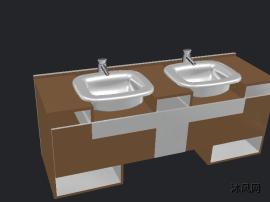 洗手台外观建模模型