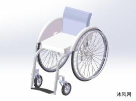 一辆轮椅模型