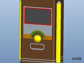 街机游戏机三维模型图纸
