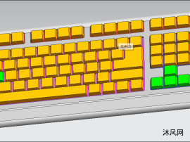 ug键盘模型含参数