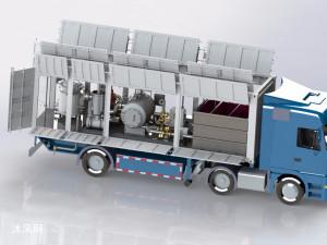 车载式加油站机械清洗设备