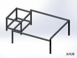 欧标40铝型材底座