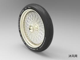 带辐条的轮毂车轮组件