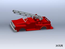 消防车车厢模型