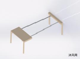 自由伸缩桌