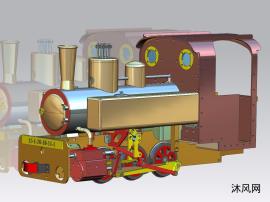 古老的蒸汽机火车头swmx