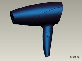 吹風機曲面設計裝配模型