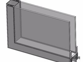 铝合金窗户建模