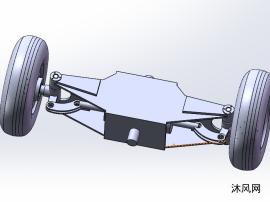 四支点叉车转向桥三维造型
