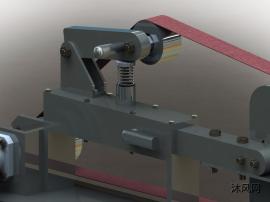 帶式磨光機三維設計模型